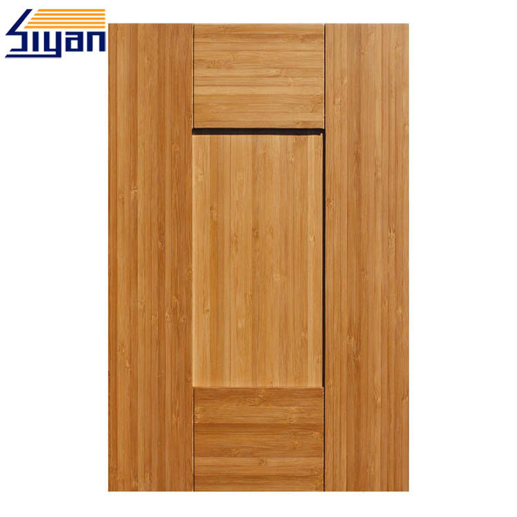 Five Panels MDF Shaker Kitchen Cabinet Doors Dark Wood Grain Size Customized