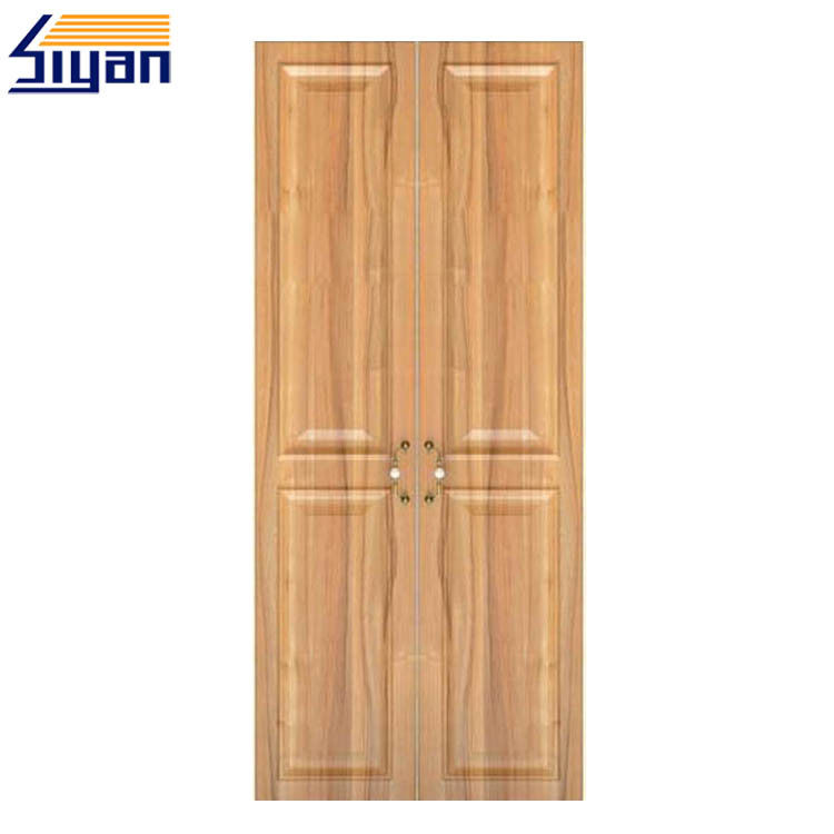 Wood Grain Wardrobe Closet Doors Scratch Resistant For Bedroom Furniture